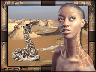 femme collier girafe