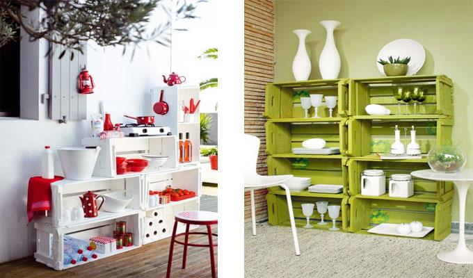 id es de d co avec des caisses en bois. Black Bedroom Furniture Sets. Home Design Ideas
