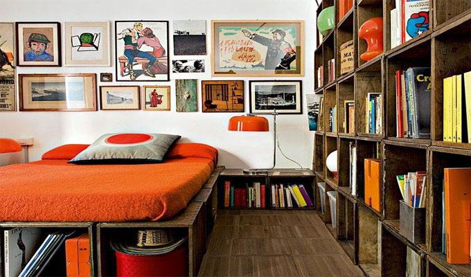 déco-custom chambre à coucher caisse en bois