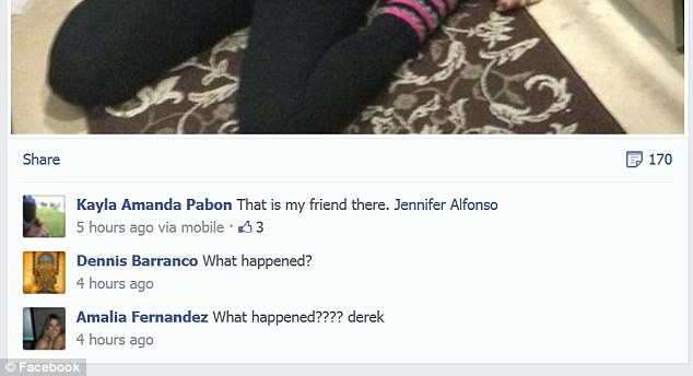 réaction des amis du meurtrier Derek Medina