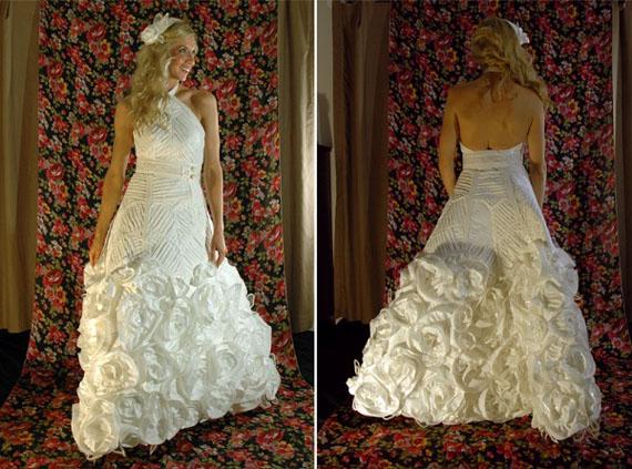 robe de mariage papier de toilette bien-être