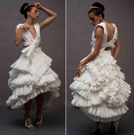 robe de mariage papier de toilette