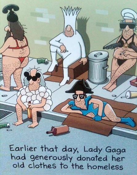 mode lady Gaga caricature