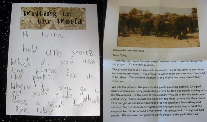 Une lettre au Tchad