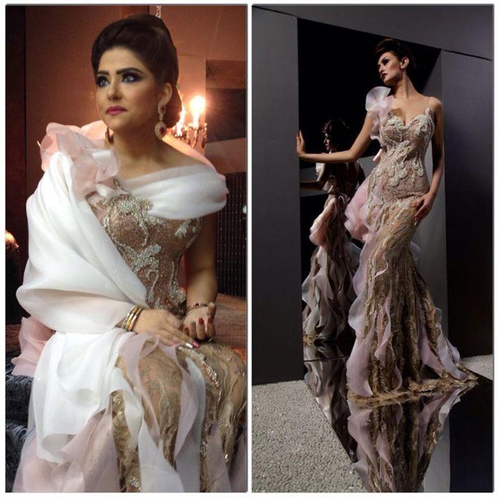Hissa al loughani qui porte une des robes de la nouvel collection hautecouture 2014