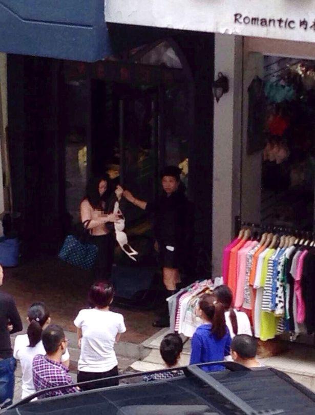 Topless-shoplifter-Yu-