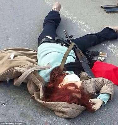La femme armé quia été abattu alors qu'elle tentait d'attaquer le QG de la police d'Istanbul