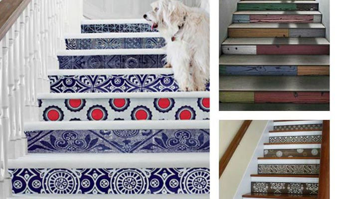 Id e d co oser le papier peint pour les escaliers for Papier peint entree escalier