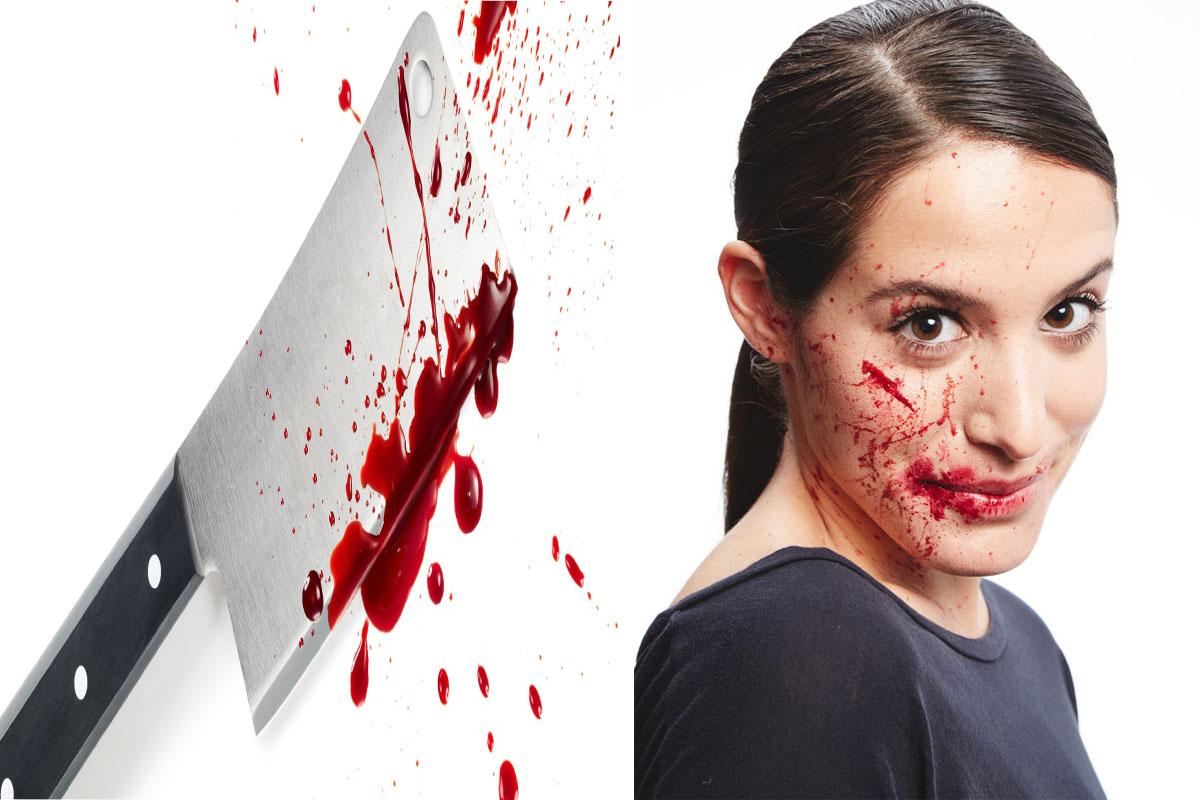 halloween comment faire un visage sanglant astuces. Black Bedroom Furniture Sets. Home Design Ideas