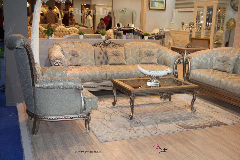 salon classique tunisie le salon du meuble 2016 un rvlateur de tendances baya - Salon En Bois Et Tissu En Tunisie