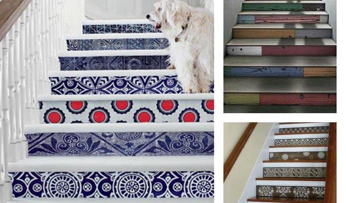 id e d co oser le papier peint pour les escaliers. Black Bedroom Furniture Sets. Home Design Ideas